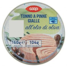 Coop-Tonno a Pinne Gialle all'olio di oliva 160 g