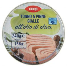 Coop-Tonno a Pinne Gialle all'olio di oliva 240 g
