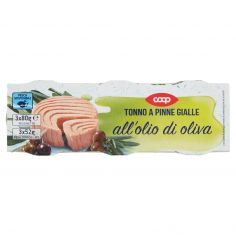 Coop-Tonno a Pinne Gialle all'olio di oliva 3 x 80 g
