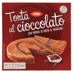 Coop-Torta al cioccolato con Ripieno di Crema al Cioccolato 500 g