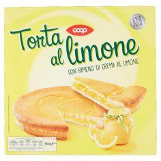 Coop-Torta al limone con Ripieno di Crema al Limone 500 g
