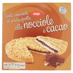 Coop-Torta croccante di pasta frolla alle nocciole e cacao 500 g
