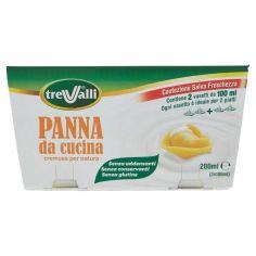 TRE VALLI-treValli Panna da cucina 2 x 100 ml