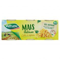 VALFRUTTA-Valfrutta Mais italiano Cotto a vapore 3 x 160 g