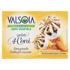 VALSOIA-Valsoia Bontà e Salute il gelato 4 Coni Mandorla 4 x 75 g