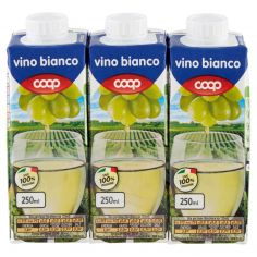 Coop-vino bianco 3 x 250 ml