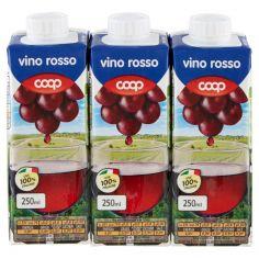 Coop-vino rosso 3 x 250 ml