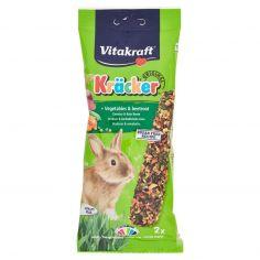 VITAKRAFT-Vitakraft Kräcker Original + Verdure & barbabietola rossa conigli nani 2 pezzi 112 g