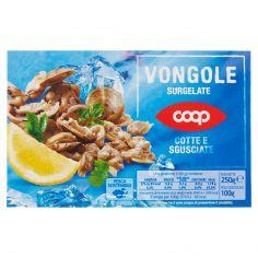 Coop-Vongole Surgelate Cotte e Sgusciate 250 g