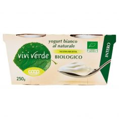 Coop-yogurt bianco al naturale Biologico Intero 2 x 125 g