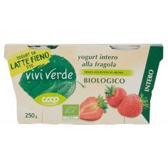 Coop-yogurt intero alla fragola Biologico 2 x 125 g