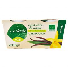 Coop-yogurt intero alla vaniglia Biologico 2 x 125 g