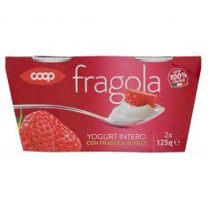 Coop-Yogurt Intero con Fragola in Pezzi 2 x 125 g