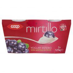 Coop-Yogurt Intero con Mirtilli in Pezzi 2 x 125 g