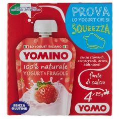 YOMO-Yomino 100% naturale Yogurt e Fragole 4 x 85 g