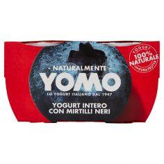 YOMO-Yomo Yogurt Intero con Mirtilli Neri 2 x 125 g