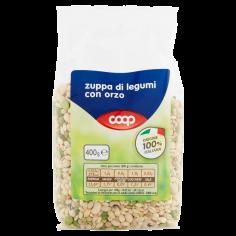 Coop-zuppa di legumi con orzo 400 g