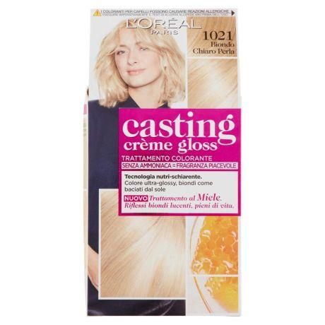 Loréal Paris Colorazione Capelli Casting Crème Gloss Tinta Senza Ammoniaca 1021 Biondo Chiaro Perla