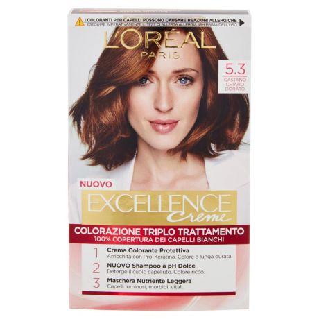Loréal Paris Excellence Crema Colorante Triplo Trattamento Avanzato 53 Castano Chiaro Dorato
